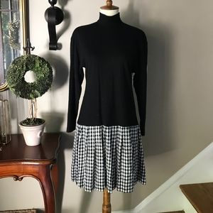 Donna Ricco Houndstooth Turtleneck Dress 6